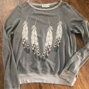Wildfox feather worn clean small USA sweatshirt
